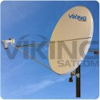 2.4 Meter Motorized C Band Uplink 5 Watt Antenna Package