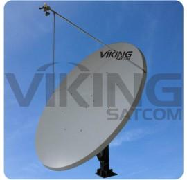 3.8 Meter Motorized Ku Band Uplink 4 Watt Antenna Package